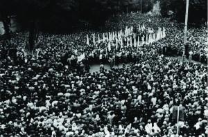 Львів, 17 вересня 1989 р. багатотисячний похід греко-католиків з вимогою легалізації УГКЦ